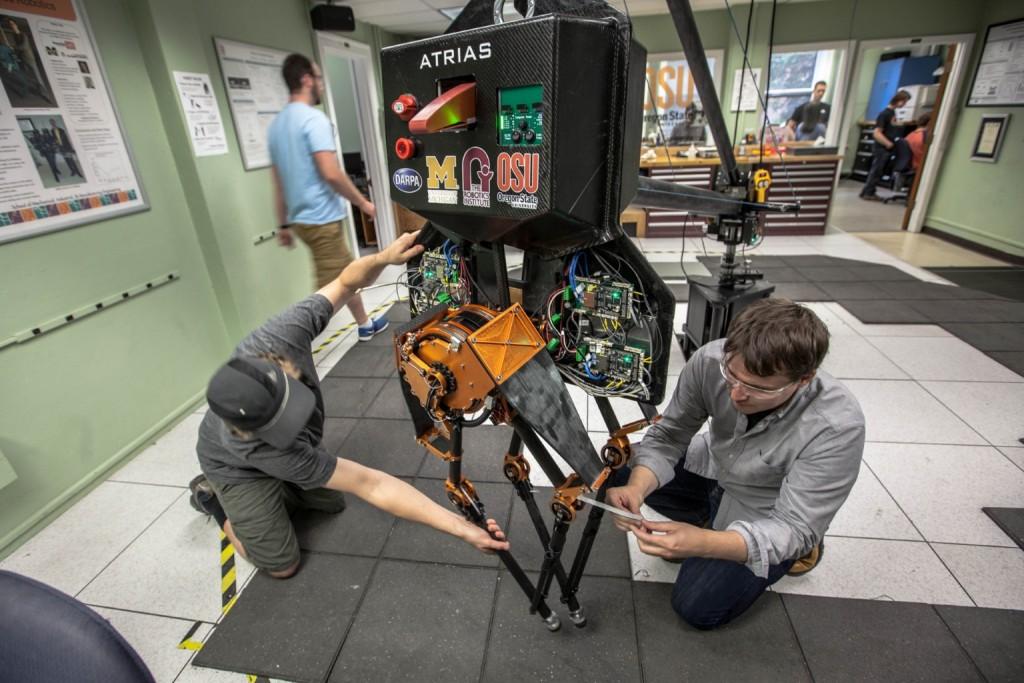 ATRIAS, a Bipedal walking robot