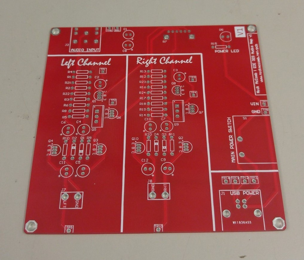 Ece 323 Audio Amplifier Pcb Nick Mccomb Amplifierwith
